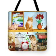 Kitten Hideout Tote Bag