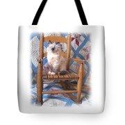 Kitten, Quilt And Rocker Tote Bag