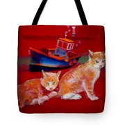 Kittens On The Beach Tote Bag