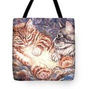 Kittens Sleeping Tote Bag