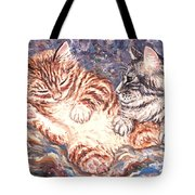 Kittens Sleeping Tote Bag