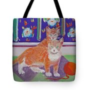 Kittens With Wild Wool Tote Bag
