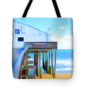 Kitty Hawk Pier 2 Tote Bag