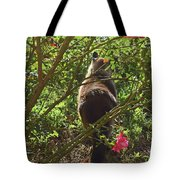 Kitty In The Roses Tote Bag