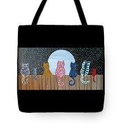Kitty Moon Rise Tote Bag