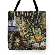 Kitty Vangoghed Tote Bag
