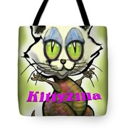 Kittyzilla Tote Bag