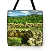 Kiva And View Pecos Ruins New Mexico Tote Bag