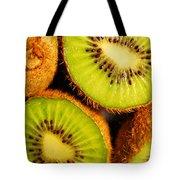Kiwi Fruit Tote Bag by Nancy Mueller