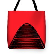 Kk100 Shenzhen Skyscraper Art Red Tote Bag