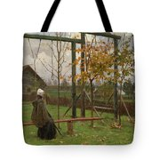 Klever, Yuli The Younger 1882-1942 Autumn Twilight Tote Bag