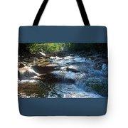 Knee Deep In Mountain Water Tote Bag
