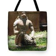 Kneeling Monkey Tote Bag