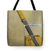 Knife In Glass - After Diebenkorn Tote Bag