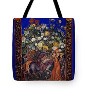 Knight Blossoms Tote Bag