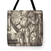 Knight In Armour With Bread And Wine Tote Bag
