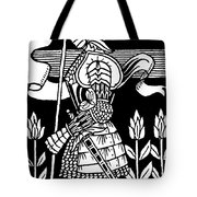 Knight Of Arthur, Preparing To Go Into Battle Tote Bag