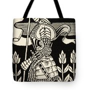Knight Of Arthur, Preparing To Go Into Battle, Illustration From Le Morte D'arthur By Thomas Malory Tote Bag