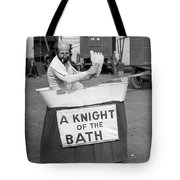 Knight Of The Bath Tote Bag