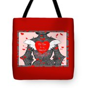 Knight Valentine Tote Bag