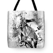 Knight With His Horse Tote Bag