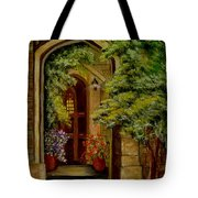 Knight's Door Tote Bag
