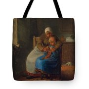 Knitting Lesson Tote Bag