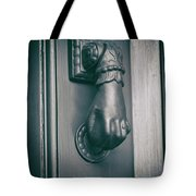 Knocking Hand Tote Bag by Michael Colgate