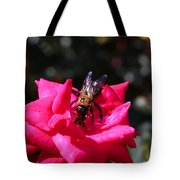 Knockout Rose And Bumblebee Tote Bag