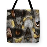 Knot In Old Board Abstract Tote Bag