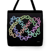 Knotplot 7 - Use Red-cyan 3d Glasses Tote Bag