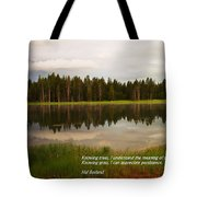 Knowing Trees Tote Bag