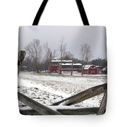 Knox Farm In Winter 0980 Tote Bag
