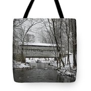 Knox Valley Forge Covered Bridge In Winter Tote Bag