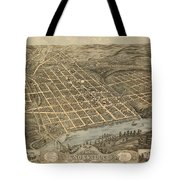Knoxville Tennessee 1871 Tote Bag