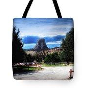 Koa Devils Tower Wyoming Tote Bag