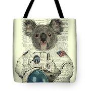 Koala In Space Illustration Tote Bag