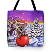 Koala On Christmas Ball Tote Bag