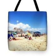Blue Sky Day In Ocean City Tote Bag