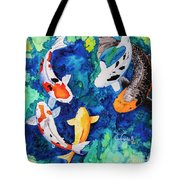 Koi Family Tote Bag