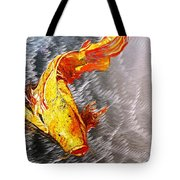 Koi Fish Aluminum Print, Unique Gift For Any Home Or Office. 'the Silver Koi'. Tote Bag