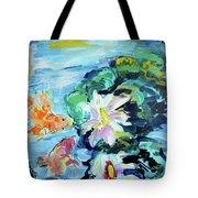 Koi Fish And Water Lilies Tote Bag