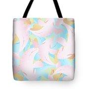 Koi Fish Powder Pink - Blue Tote Bag