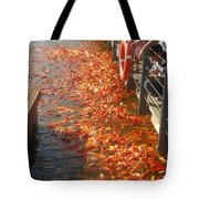 Koi Fishes In Feeding Frenzy Part Two Tote Bag