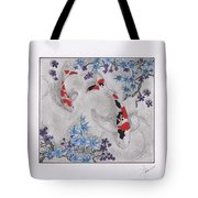 Koi In The Shade Tote Bag