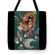 Koi Mermaid 2/4 Tote Bag