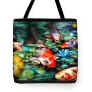 Koi Paradise Tote Bag