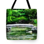 Koi Pond Bridge - Japanese Garden Tote Bag