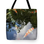 Koi Pond Reflection Tote Bag