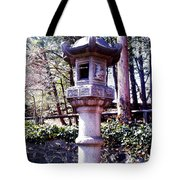 Koi Pond Statue Tote Bag